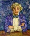 Madame van Rysselberghe in a Chedkered Bow Tie - Theo van Rysselberghe