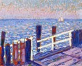 The Jetty - Theo van Rysselberghe