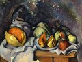 Still Life with Fruit and a Pot of Ginger - Paul Cezanne