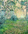 House with Roses - Henri Eugene Augustin Le Sidaner