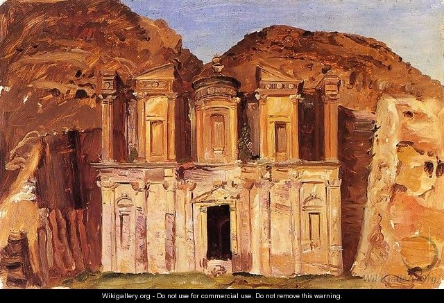 View of Ed Deir, Petra, Jordan - Frederic Edwin Church
