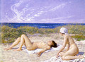 Sunbathing in the Dunes - Paul-Gustave Fischer