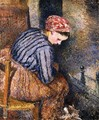 Peasant Woman Warming Herself - Camille Pissarro
