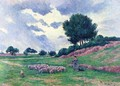 Mereville, a Herd of Sheep - Maximilien Luce