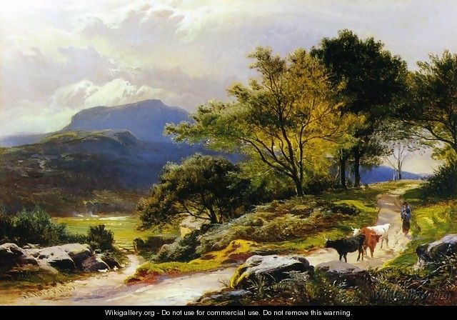 Near Llyn Crafnant - Sidney Richard Percy