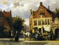 The Corner of Westerstraat and Tabakstraat in Enkhuizen - Cornelis Springer