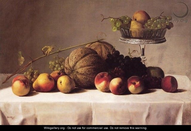 Still Life of Summer Fruit - George Hetzel