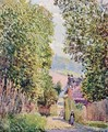Street in Louveciennes, Sunlight - Alfred Sisley