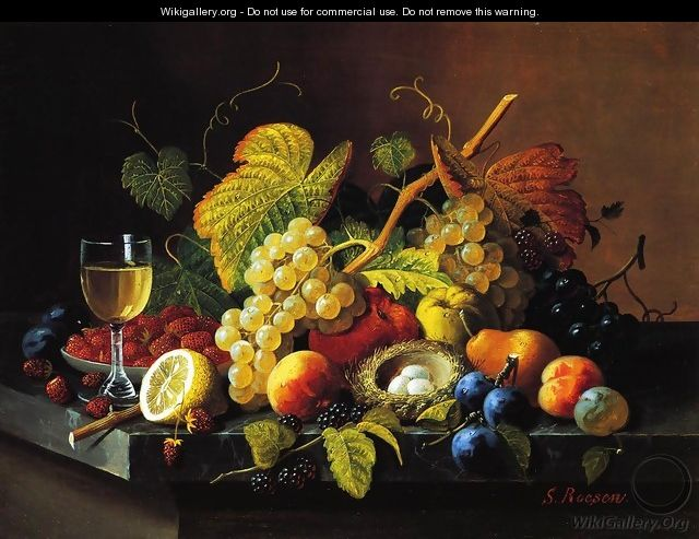 Still Life with Fruit XV - Severin Roesen
