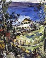 The Walchensee, Country House with Washing on the Line - Lovis (Franz Heinrich Louis) Corinth