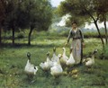 Guiding the Geese - Therese Marthe Francois Cotard-Dupre