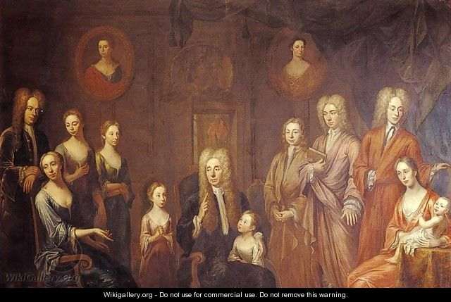 Sir Francis Grand and His Family - John Smibert