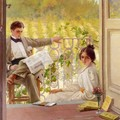An Afternoono on the Porch - Vittorio Matteo Corcos