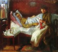 Franz Heinrich Corinth on His Sickbed - Lovis (Franz Heinrich Louis) Corinth
