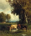 Cows in the Meadow - William Howard Hart