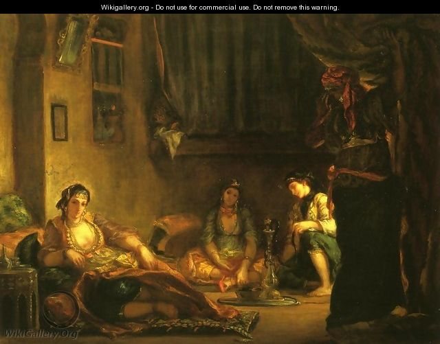 Women of Algiers in Their Apartmente - Eugene Delacroix