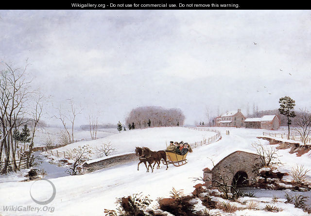 Sleigh Ride on a Gray Day - Thomas Birch