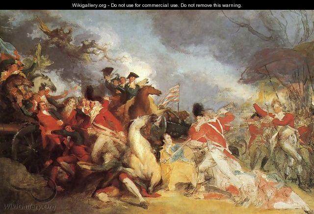 The Death of General Mercer at the Battle of Princeton (unfinished version) - John Trumbull