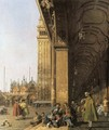 Piazza San Marco, Looking East from the Southwest Corner - (Giovanni Antonio Canal) Canaletto