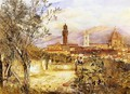 View of the Duomo fro the Mozzi Garden, Florence - Henry Roderick Newman