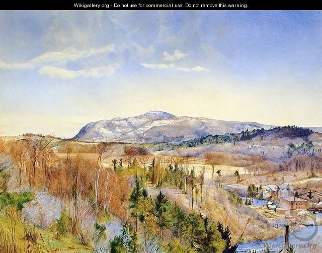Mt. Everett from Monument Mountain in April - Henry Roderick Newman