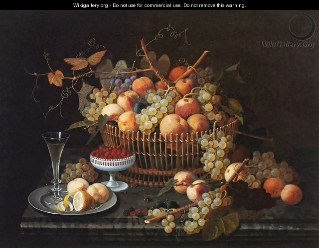 Still Life with Fruit and Vase - Severin Roesen