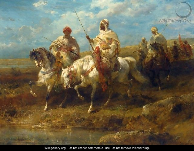Arab Horsemen I - Adolf Schreyer