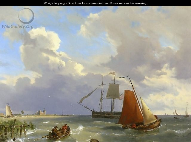 Shipping in a Choppy Estuarry - Hermanus Jr. Koekkoek
