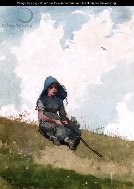 Little Shepherdess - Winslow Homer