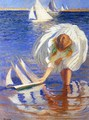Girl with Sailboat - Edmund Charles Tarbell