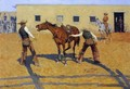 His First Lesson - Frederic Remington