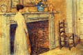 The Fireplace - Frederick Childe Hassam
