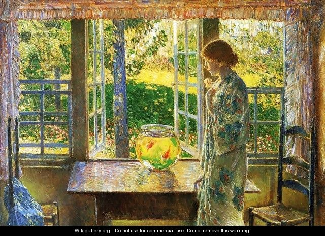 The Goldfish Window - Frederick Childe Hassam