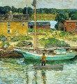 Oyster Sloop, Cos Cob - Frederick Childe Hassam