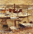 River Scene in Winter - Ernest Lawson