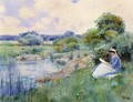 Woman Reading - Frederick Childe Hassam