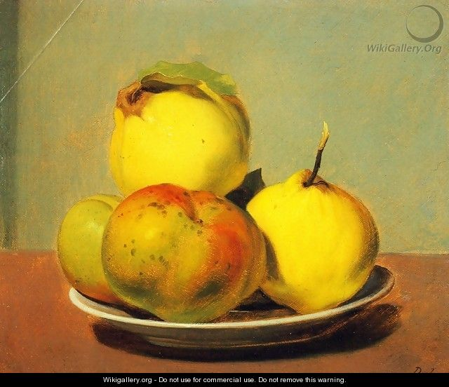 Dish of Apples and Quinces - David Johnson