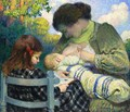 Motherhood, Madame Lebasque and Her Children - Henri Lebasque