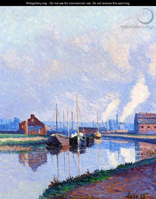 Charleroi, Barges on the Sambre - Maximilien Luce
