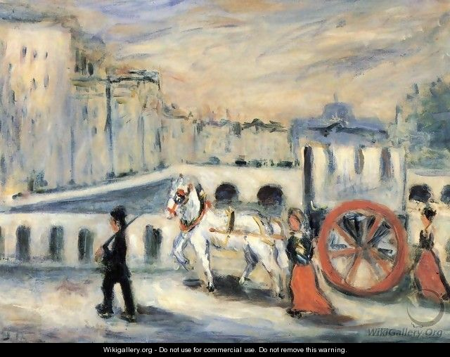 The Red Cart - Emile-Othon Friesz