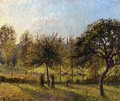 Setting Sun, Autumn in Eragny - Camille Pissarro