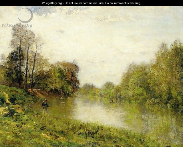 The Marne at Charenton, A Fisherman - Stanislas Lepine