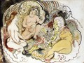 An Oriental and His Women - Jules Pascin