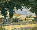 A Square in Monterain - Henri Lebasque