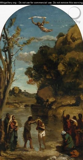 The Baptism of Christ (study) - Jean-Baptiste-Camille Corot