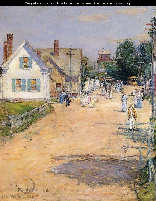 East Gloucester, End of Trolly Line - Frederick Childe Hassam
