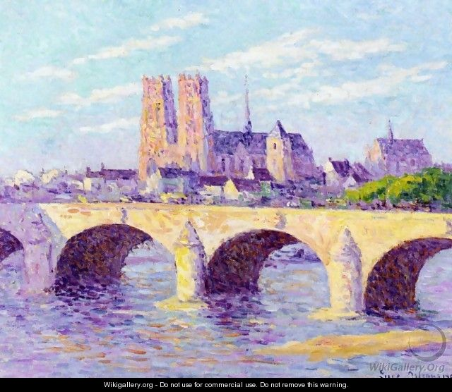 Orleans, View of the Pont Georges V and the Cathedral Sainte Croix - Maximilien Luce