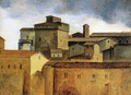 Rooofs of Rome with a Square Tower - Francois-Marius Granet