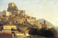 Hill Town in Italy - Alexandre-Hyacinthe Dunouy