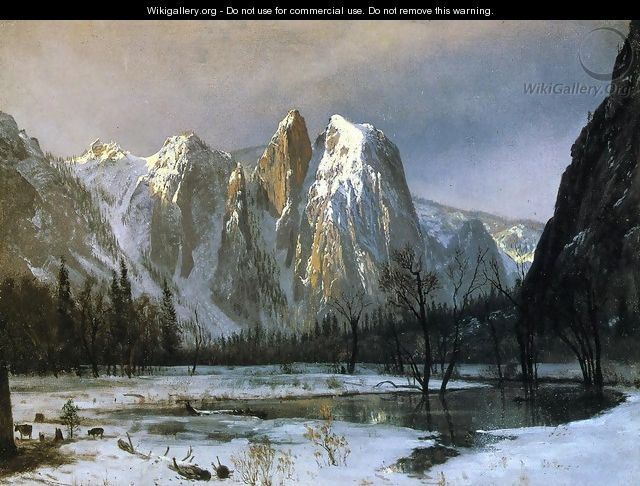 Cathedral Rocks, Yosemite Valley, California - Albert Bierstadt